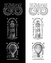 Trendy Retro Vintage Insignias - Badges vector set