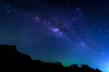 Milky Way Galaxy and Stars Trai
