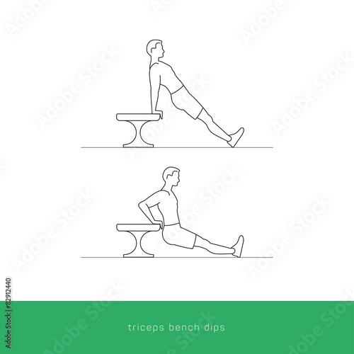 Outstanding Fitness Icon Triceps Bench Dips Workout Vector Design Creativecarmelina Interior Chair Design Creativecarmelinacom