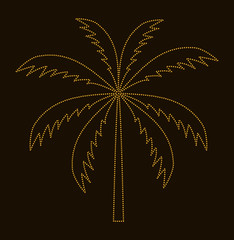 Silhouette of Palm Tree. Vector illustration.
