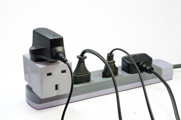 Three way electric socket