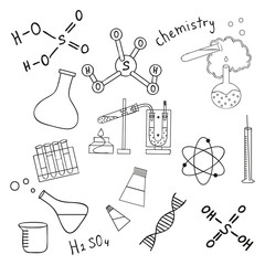 Sketch of science doddle elements.