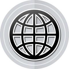 globe sticker icon