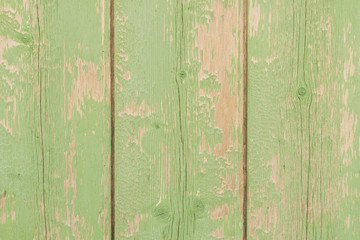 Old green wooden boards at christmassy style