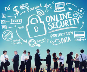 Online Security Protection Privacy Firewall Concept