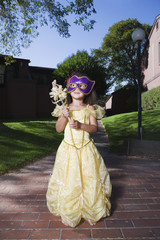 African girl in fairy princess costume