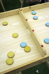 Wooden board games. color image