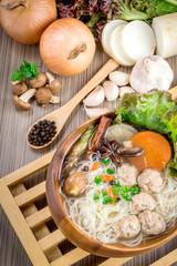 Thai ramen noodle
