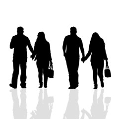 couples vector silhouette