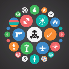 army icons universal set