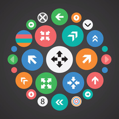 Arrows icons universal set