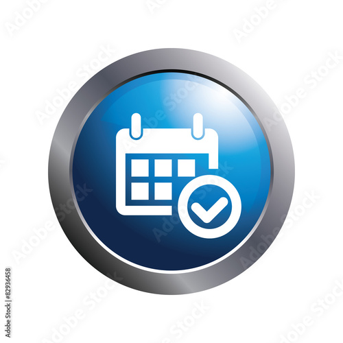 Calendar Illustration Search : Quot blue button check mark calendar icon stock image and