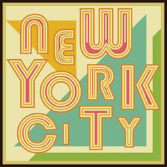 New York City t-shirt typography Printing design vector