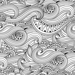 Vector ornament doodle seamless pattern