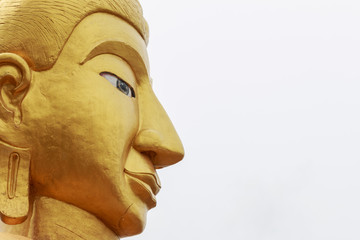 Beautiful face of Buddha statue