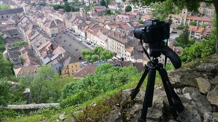 Reflex numérique sur vue panoramique