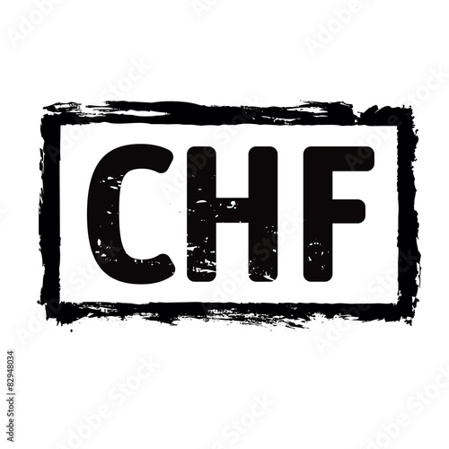 Chf Symbol Of Swiss Franc