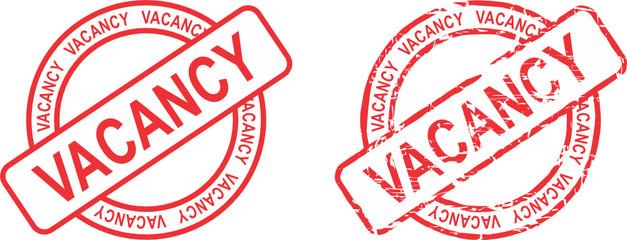 vacancy stamp sticker in vector format very easy to edit