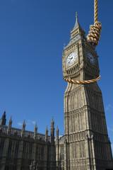 Westminster Hung Parliament Big Ben Noose