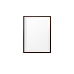Blank wood photo frame on white background vector eps10 002