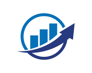 Finance Accounting Chart Arrow Logo