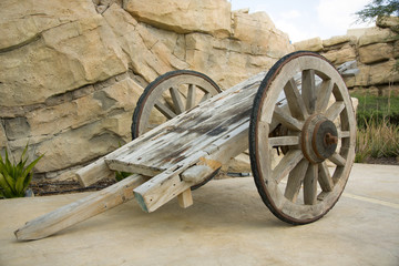 Old, rusty and superannuated chariot
