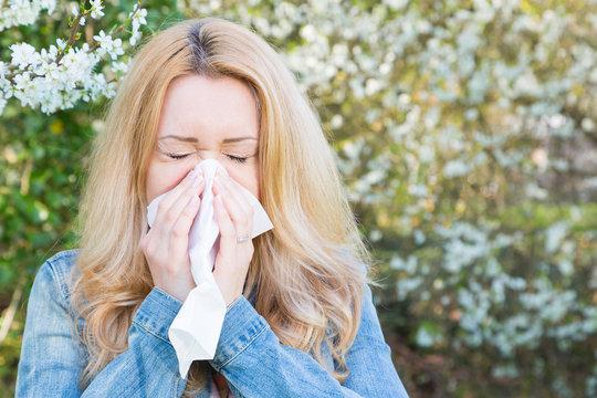 Allergie, Frau, Frühling