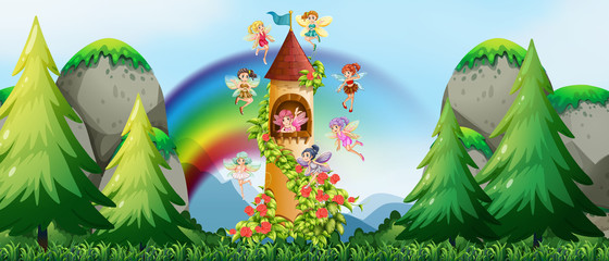 Fairies and castle