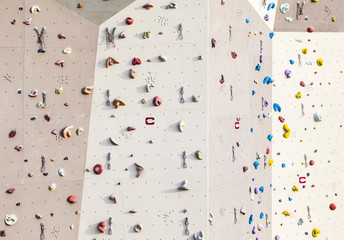 climbing wall in early morning