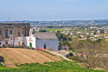 Panoramic view of Martina Franca. Puglia. Italy.