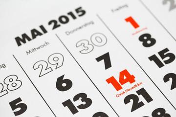 Christi Himmelfahrt Kalenderblatt