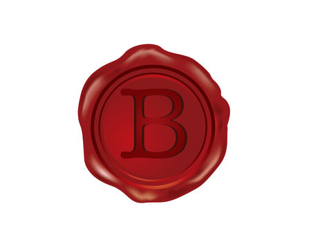 B Wax Seal Alphabet