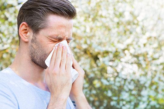 Allergie, Mann, Frühling