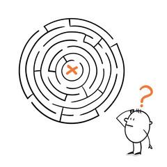 Weg durchs Labyrinth