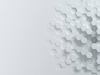 hexagonal abstract 3d background