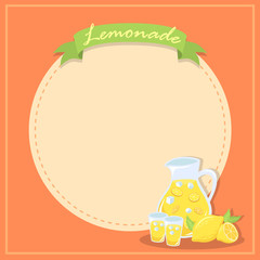 Fresh Lemonade Banner Poster Illustration