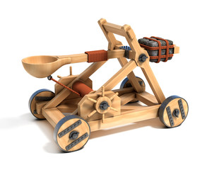 catapult 3d illustration