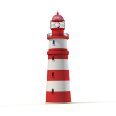 Photo sur Aluminium Phare lighthouse 3d illustration