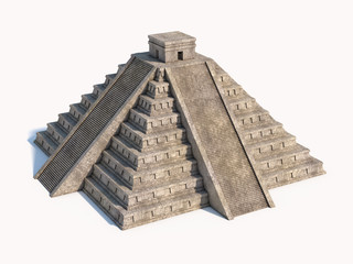 Mayan pyramid isolated
