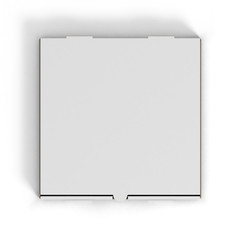 blank pizza box isolated