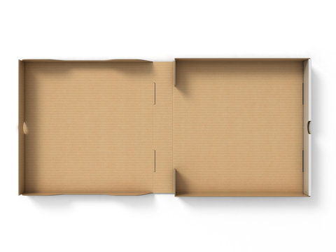 blank pizza box isolated