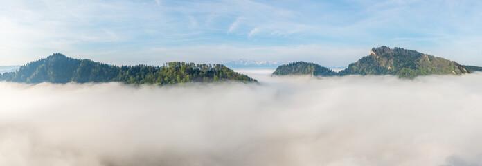 Morze mgieł w Pieninach