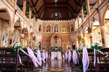 The Cathedral of the Immaculate Conception at Chantaburi in Thai