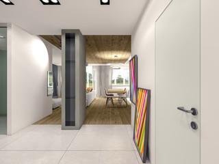 Apartment hallway 3d rendering