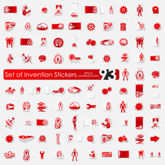 Set of invention stickers