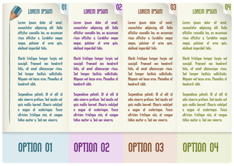 vector infographic design for number options