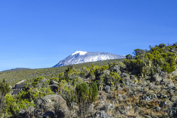 Mount Kilimanjaro, the highest mountain in Africa