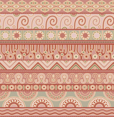 Vector seamless pattern with ethnic elements.