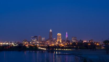 Cleveland Skyline at Twilight