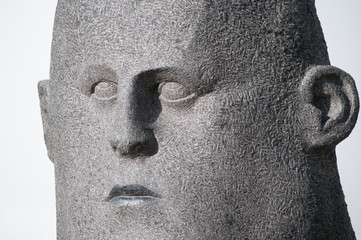 stone monument face